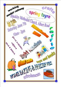 Poster for spring fayre 2014