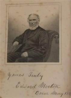 Edward Morton 1807-1880 1852 Earl Shilton, 1853 Hinckley