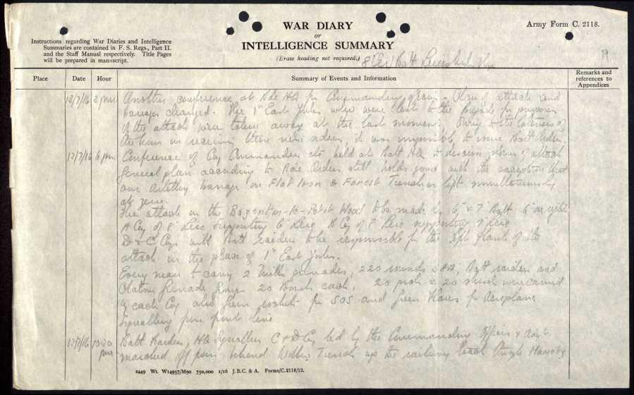 13 july 1916